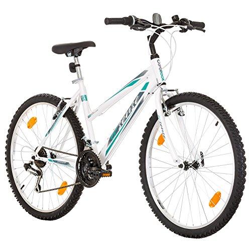 Multibrand, PROBIKE 6th SENSE, 460mm, 26 Zoll, Mountainbike, 18 gang, Shimano, Für Damen, Weiß-Türkis