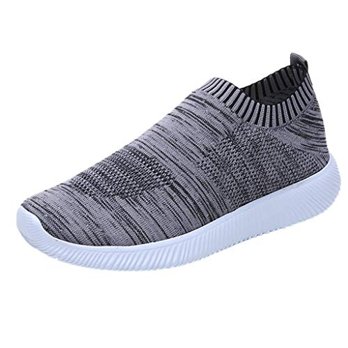 ip On Bequeme Arbeit Sneakers, leichte Tennis Running Walking Sportschuhe, Stricken atmungsaktive Casual Flats ()