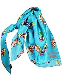 Moschino - Carré en soie Papillons turquoise