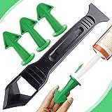 4 stuks breeuwen Nozzle Applicator en Schraper Set, XCOZU Sealant Afwerking Tool Siliconen Remover Tool, Siliconen Smoothing