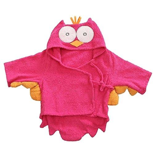 Tier Schönheit 3 Das Und Saison (Missley Baby Tiere Bademäntel Spa Bademantel Baby PyjamasBaumwoll Bademäntel (Owl))