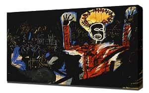 Jean Michel Basquiat - Profit I - Reproduction d'art - Taille Du Cadre 50cm x 75cm - Image Sur Toile