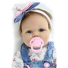 """ZIYIUI 22 """" Bebé Recién Nacido Muñeca Hecha a Mano Suave del Silicón del Bebé Muñeca Recién Nacida los 55cm Reborn Baby Doll"""