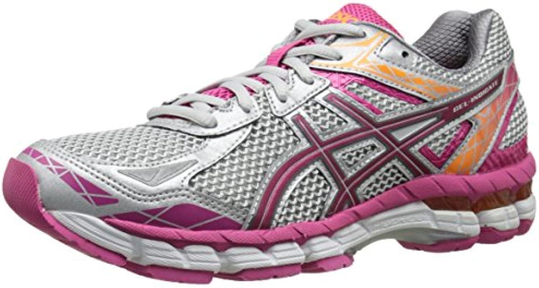 ASICS Calzado de running con indicador de gel para mujer, Lightning / Hot Pink / Nectarine, 11.5 M de EE. UU.