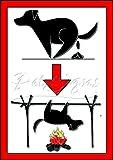 Petsigns FUNaufkleber - Kackmotiv - Lustiger Aufkleber Gegen Hundekot, Din A4