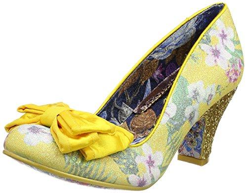 Irregular Choice Ban Joe, Escarpins femme Yellow (Yellow Floral)