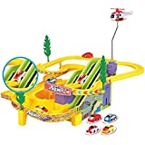 Vivir Track Racer Racing Car Set With Rotating Helicopter ( Toys For 3 Years Old Boy And Girls )