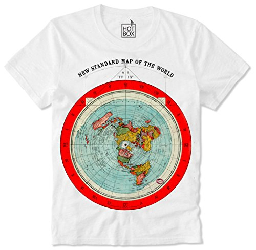 Earth t shirt the best amazon price in savemoney hotbox t shirt hipster flat earth flache erde map karte l gumiabroncs Gallery