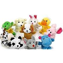 Kanggest 10Pcs Juguete Animal de Dibujos Animados Pequeño Juguete Suave de Dibujos Animados para la Educación de los Niños