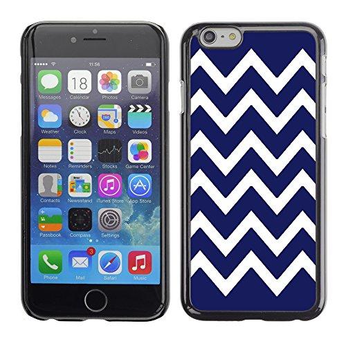 Graphic4You Chevron Muster Harte Hülle Case Tasche Schutzhülle für Apple iPhone 6 / 6S (Türkis) Marineblau