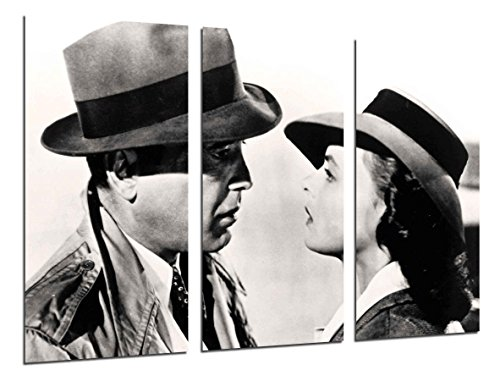 Cuadro Moderno Fotografico Historia Cine Antiguo Hollywood, Humphrey Bogart, Ingrid Bergman, 97 x 62 cm ref. 26373