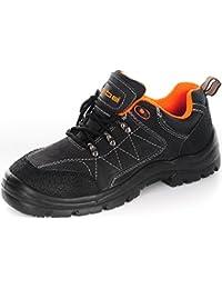 Ergos - Calzado de protección de Piel para hombre negro negro, color negro, talla 44 EU