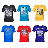 #3: Men's Round Neck T-shirt Combo (Pack of 6)