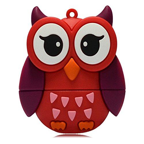 818-Shop No13600080336 Hi-Speed (USB 3.0 16GB) Speichersticks Eiform Eule Vogel Uhu Rot