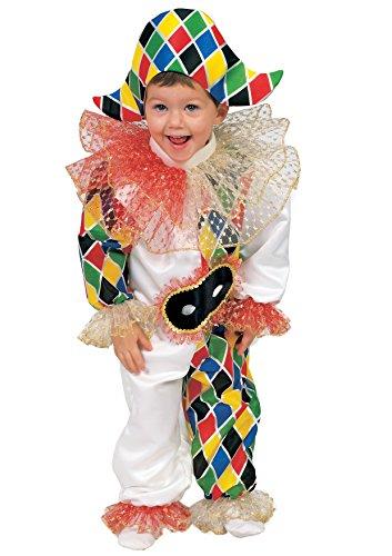 Fiori Paolo 55014 - Baby Arlecchino Costume, 12-18 Mesi, Multicolore