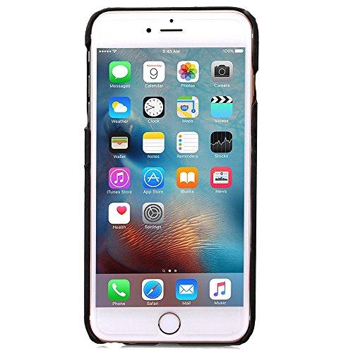 iPhone 6S Hülle,iPhone 6 Hülle,iPhone 6S Case,iPhone 6S Tasche Hardskin Schutzhülle,NSSTAR® Wallet Hülle Schutzhülle,Ultra Slim Fit PU Leder Wallet mit Standfunktion Kreditkarte Identifikation Halter  Schwarz