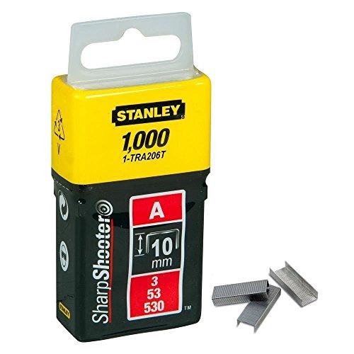 STANLEY Grapas Tipo A 10 mm-1000 Unidades