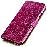 Glitzer Handytasche für Huawei Ascend Y300 Pink Schutz Hülle Etui Bag Bling Case NEU