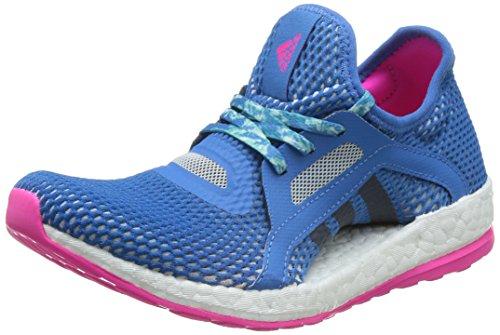 adidas Damen Pureboost X Laufschuhe, Violett Blau / Rosa (Supazu / Azumin / Rosimp)