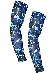 Taille unique, Bleu minimise les blessures TiaoBug Manchon de compression Auti-uv Protection de lavant-bras