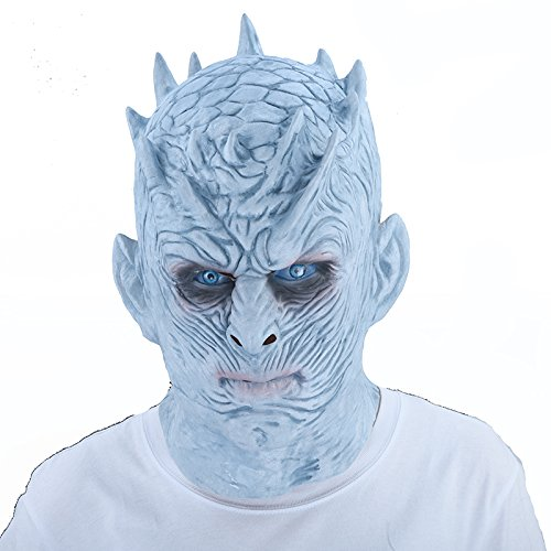 Ice King Kostüm Der - WULIHONG-MaskeGame of Thrones Halloween Maske Night's King Walker Gesicht Night RE Zombie Latex Maske Erwachsene Cosplay Thron Kostüm Party Masken