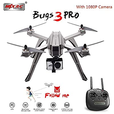 Househome MJX Bugs 3 Drones, MJX Bugs 3 Pro, Quadcopters Brushless Remote Control 1080P 5G wifi