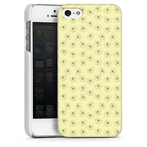 Apple iPhone 6 Housse Étui Silicone Coque Protection Fleurs Fleurs Vintage Rétro Collection CasDur blanc