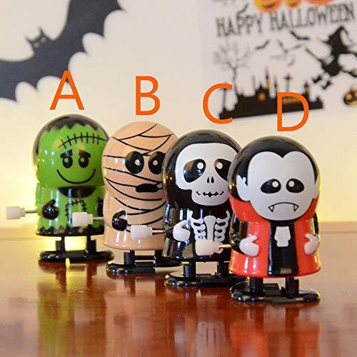 lustiges Spielzeug, ALIKEEY Halloween Uhrwerk Geschenk Wind Up Bounce Spielzeug Requisiten Spielzeug Springen Kürbis Monster