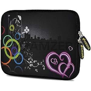 AMZER 10.5 Inch Designer Printed cover Neoprene Sleeve - Love Wonders for Apple iPad Air