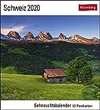 Schweiz Kalender 2020: Sehnsuchtskalender, 53 Postkarten -