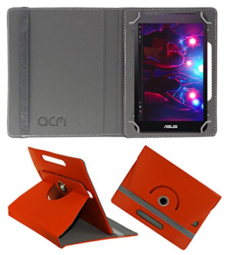 Acm Rotating 360° Leather Flip Case for Asus Fonepad 7 Fe170cg Cover Stand Orange  available at amazon for Rs.149