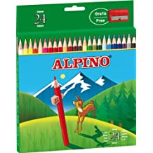 Alpino AL000658 - Estuche cartón de 24 lápices, colores surtidos