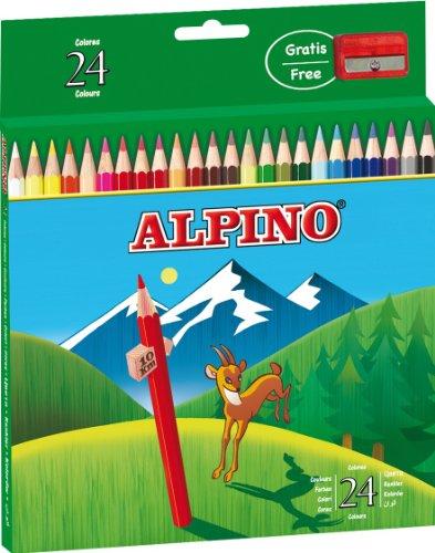 Masats Alpino al000658Federmäppchen, Karton mit 24Buntstiften, Farben sortiert