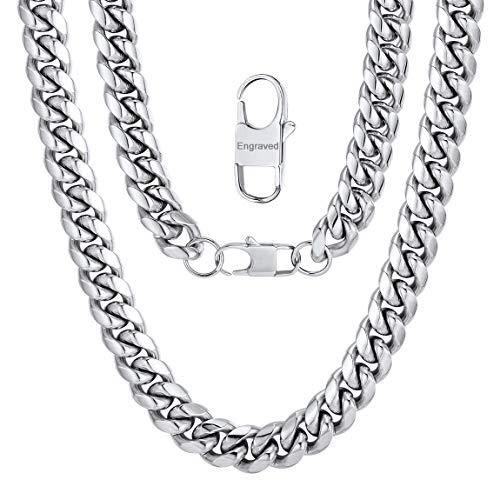 ChainsPro Edelstahl Herren Kette Rolo Ketten Panzerkette Klassische Herrenschmuck Halskette 14