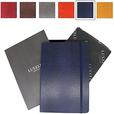 Cuaderno A6 de lujo de Luxelu London, con acabado de autor, en una bonita caja de regalo