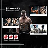BASHERRY Bauchmuskel Stimulator ABS Trainer, Body Toning Fitness Muskelaufbau Gürtel ABS Fit Gewicht Muskel Toner (Gel Pad + Remote Control) Test