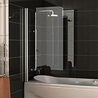 badewannenabtrennung echtglas trennwand ca 75 x 130 cm badewanne duschabtrennung aus sicherheitsglas - Trennwand Dusche Kunststoff