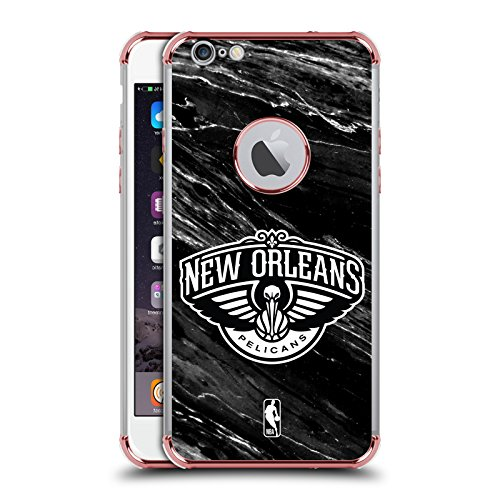 Head Case Designs Offizielle NBA S&W Marmor New Orleans Pelicans Rose Schocksicheres Schutzblech Hülle für iPhone 6 Plus/iPhone 6s Plus (Orleans Rose)