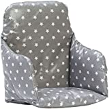 Messy Me High Chair Insert Cushion (Classic Grey Star)