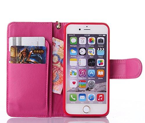 Coque iPhone 7,Coque iPhone 7 Plus, Coque iPhone 6/6S, Coque iPhone 6Plus/6S Plus, Coque iPhone Case cover, [Porte-cartes] étui Protection en Cuir Portefeuille multi-Usage Housse Rabattable(ARD-03) A