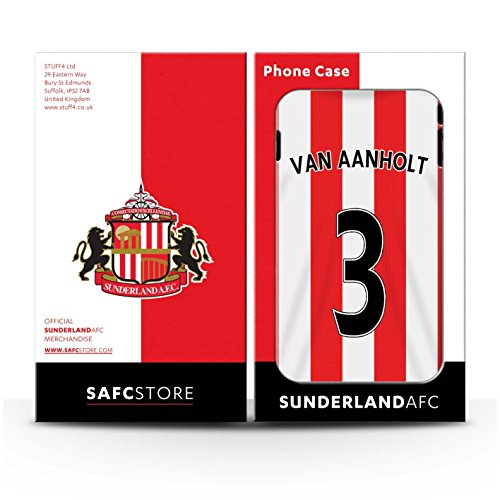 Offiziell Sunderland AFC Hülle / Glanz Snap-On Case für Apple iPhone 4/4S / Pack 24pcs Muster / SAFC Trikot Home 15/16 Kollektion Van Aanholt