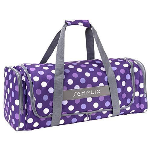 SEMPLIX Plottertasche, die optimale Aufbewahrungs- und Transport-Tasche für Hobby Plotter samt Zubehör (Lila/Flieder)