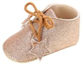 Eozy Babyschuhe Mädchen Glitzer Lauflernschuhe Festliche Schuhe Taufschuhe Gold Fußlänge bis 10cm