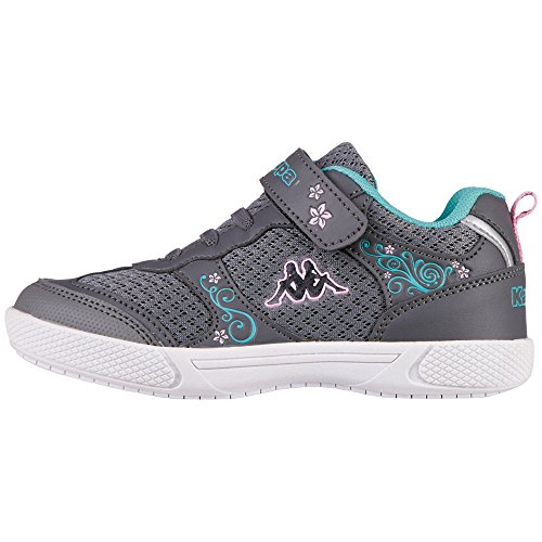 Kappa Mädchen Pixie Sun Kids Low-Top, Grau (1637 Grey/Mint), 31 - Pixie Grau