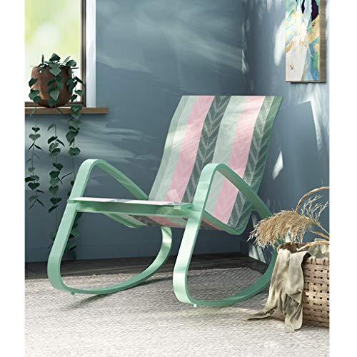 Patio-stuhl-riemen (ZHEN GUO Minimalist Patio Chair Gartenstühle, Metall Schaukelstuhl Glider Rocker für Schlafzimmer, Pool Lounge Chairs, Recliner Stuhl für Wohnzimmer, Orbital Lounger für Erwachsene)