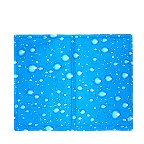 S*Y HUY-Dog Cooling Mat, Durable Pet Cool Mat Non-Toxic Gel Ice Self Cooling Pad, Great for Dogs Cats In Hot Summer