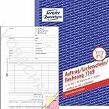 Avery Zweckform 10 x Formularbuch Auftrag/Lieferschein/Rechnung A5 selbstdurchschreibend 3x40 Blatt