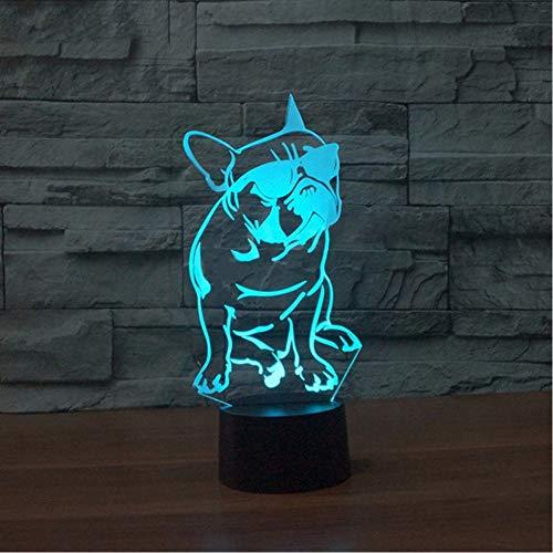 Fyyanm 7 Farbwechsel Farbverlauf Kind Nacht Schlafende Nachtlicht Luminarias Cartoon Mit Brille Cool Dog Touch Taste Lampe Baby Geschenke
