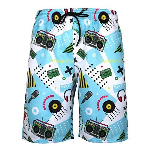 Uomo Pantaloni Corti Bermuda Cargo Pantaloncini Uomo Lavoro Pantaloni Tasconi con Elastico Pantofole Estive Casual Pantaloncino Sportivi da Spiaggia Viaggio Stampa Ananas Stampa 3D Taglia Forti