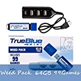 Searchyou True Blue Mini Weed Pack con 64G 99 Juegos para Playstation Classic